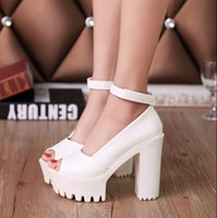 Cheap 2015 summer women shoes Rome open toe buckle high heels chunky waterproof Taiwan platform shoes female sandals cheap shoes