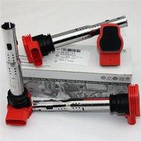 Wholesale 4Pcs Set High Quality Brand New Red Ignition Coil Fit For VW Touareg A4 A5 A6 A8 Q7 TDI TDI V6 V8 E E E905115E