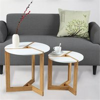 Wholesale White Coffee Tables High Quality Desk Wood Material Round Design New Arrival for Sale EB DJ15567