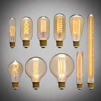 Wholesale 40W Filament Light Bulbs Vintage Retro Industrial Style edison Lamp E27 Edison Bulb Vintage Incandescent Lights tungsten bulb