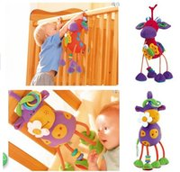 Cheap baby bed Hanging toy Soft stuffed plush Cow Deer toys Baby Doll