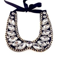 Wholesale High quality cape chain crystal elegant ladies false collar