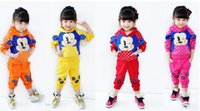 Spring / Autumn baby hoodie pattern - Autumn Winter Girls Clothing Clothes Suit Sweetly Hoodies Pant Pieces Cartoon Pattern Clothing Baby Clothing Colors