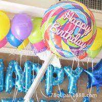 arrangement number - US aluminum imitation baby birthday party party arrangement Days big number lollipop Foil Balloons