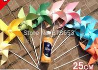 Wholesale 100PCS DIY Graffiti Windmill Kids birthday party decoration wedding party supplies garden decorated windmill