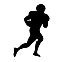 american soccer player - Car Stickers American Football Soccer Player Silhouette Rugby Sport Man Ball Art Vinyl Sticker Decals For Car Suv Bumper Window