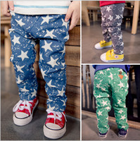 Wholesale children clothes spring cute cartoon boys star printing casual trousers pant dandys