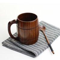 barrel mug - ml oz Wooden Tea Cups Jujube Wood Mug Handmade Barrel Juice Beer Juice Drinking Cup Durable Tableware
