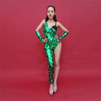 ballroom clothing for women - One Piece Fashion Perspective Jumpsuits for Ballroom Sexy Outfits Clothing Sequins Mirrors Stage Wear Performance DH