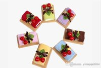 bamboo birthday cake - 2015 New Romantic wedding decoration Swiss With Cherry Sweet Cake Towel cm Square Towel Wedding Christmas birthday gifts mixed color
