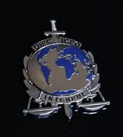 art experts - The United States badge metal badge Interpol badge INTERPOL expert SWAT copper