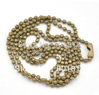 Cheap 10strands lot 2.4mm ball antique bronze Dog Tag Chains Ball Bead Chain Ball Chains Necklaces Keychains Wholesale