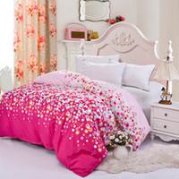 Wholesale home textile pc duvet cover cm not include comforter quilt cover clothing pc set rainbow villa town queen size