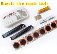 bicycle tire sealant - NEW Bicycle Riding repair Tool Set Film Crowbar glue Tire repair tools Family Self repair sealant
