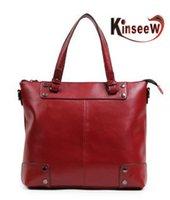 Wholesale Fashion pieces Genuine Leather solid cowhide women handbags
