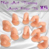 Wholesale 5pcs Nail Art Practice Training Display Finger Tip Acrylic Professional Finger Practice Training Display Nail Art False Tip