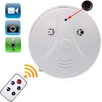 Wholesale Smoke Detector camera motion Detection Model Hidden Spy Camera DVR Camcorder Spy DV Remote White HD Smoke DVR