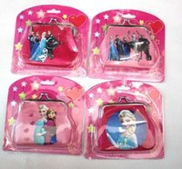 Wholesale new baby girls Frozen Coin Purses kids Snow Queen wallet chilldren princess Elsa Anna money bag party