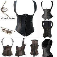body shapers - Full Steel Bone Waist Training Corset Sexy Bustiers Hanging Shoulder Training Corset Women Push Up Hot Body Shapers Fashion Styles