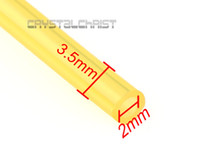 small engines - 60CM New Petrol Fuel Gas Line Pipe Yellow IDxOD mm Small Engine Length