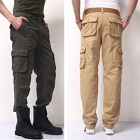 tactical pants - 30 High Quality Men s Cargo joggers Pants Military for Men multi pocket Overalls tactical Army Trousers Camouflage fashion