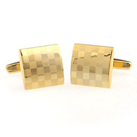 Cuff Links Men's Nickel Fashion Gold plated Laser cufflink French Cufflinks mens Cufflinks Fathers Day Gifts For Men Jewelry Wedding Cufflinks W254