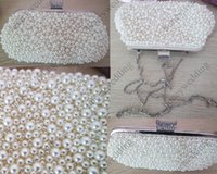 Wholesale White Beaded Clutch Bag White Beaded Wedding Bridal Clutch Purse Bridesmaid Gifts Wedding Accessories