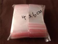 Wholesale 500Pcs CM Jewelry Ziplock Zip Zipped Lock Reclosable PE Plastic Poly Clear Bags Vacuum Bag