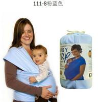best baby slings - Best Selling Elastic Cotton Newborn Two Shoulders Backpacks Solid Color Baby Carrier Wrap Canguru Baby Sling Kangaroo For Babies
