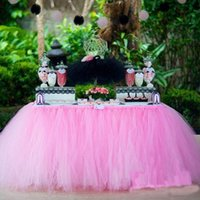 Wholesale Hot Sales Tulle Tutu Table Skirts Sashes cm Festival Wedding Event Party Decorations Suppliers Chair Cover Ribbons