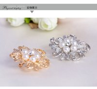 beauty ball pins - DHL Flower Brooches Pearl K Gold Plated Brooch mm Beauty Flower Brooches for Women Fasion Jewelry