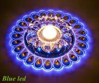 achat en gros de lampes de paon-Livraison gratuite 3W LED lampe de plafond de cristal pour porte d'entrée LED lampe de plafond de cristal éclairage paon lumière