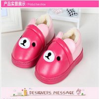 baby house shoes - Kids Girls Winter House Baby Cartoon Shoes Velvet Warm Boots Waterproof Infant Footwear Soft KS81205