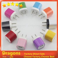 Wholesale Dual Color US Plug USB Wall Charger V A Home Charger Travel Adapter for Iphone s plus for Samsung S4 S5 Note