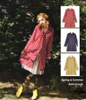 Wholesale Hot New Women Raincoat Outdoor Rain Poncho Riding Knee Length long Rainwear Polka Dots Waterproof Hooded Clothes B22 CB031943