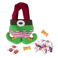 fancy bags - Elf Spirit Boots Shoes Candy Gift Bag Sack Stocking Filler Fancy Santas Pants Candy Elves Christmas Gift Bag Small Sack Stocking