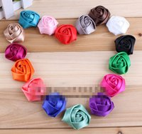 ribbon rose - 15 off new quot Colors Flat Back Mini Satin Ribbon Rose Flower Accessories Handmade Rolled Rosettes For Hair Clip Or Headband