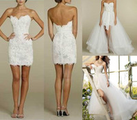 beautiful bridal dress - 2015 News design Fashion Wedding Dresses Lace Appliques Decoration Detachable design sexy beautiful Charm bridal gowns