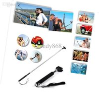 Wholesale new in Camera Tripod Extendable Handheld Camera Monopod with cellphone holder for iPhone Samsung HTC Digital Camera