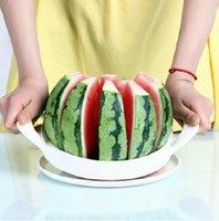 Wholesale Corer Slicer Easy Cutter Cut Fruit Knife Cutter for Watermelon splitters Stainless steel Dicing Cutter Creative Stuff