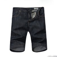 basic style jeans - Basic Style Men s Shorts Jeans Shorts Summer Men Knee Length Jeans Solid Straight Short Jean Trousers MKN336