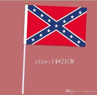 Wholesale Rebel Flag hand signal flag Confederate Rebel Civil War Flag Confederate Flag Confederate Battle Flags Polyester National Flags cm B151