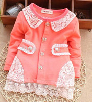 Wholesale new Baby girls autumn outerwear Autumn baby girls long sleeve clothes Baby girls Cotton outerwear Autum children Outerwear