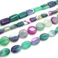 AgFashion mezcla StyleMix Tamaño verde natural del Onyx de la ágata de piedra joyería de los granos de piedras preciosas sueltas de joyería DIY HC628