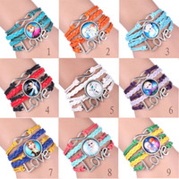 Wholesale 18 designs Frozen Charm Jewelry Anna Elsa Fashion Cute Infinity Bracelets Silver Pick Style Bracelets