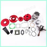 Wholesale 44mm grooves Red Big Bore Kit Crankshaft Gasket Set For cc cc Mini Motor Atv Quad Motorcycle Go Kart order lt no track