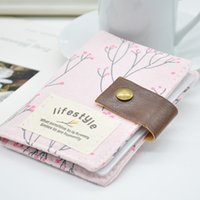 Wholesale 2015 New Fashion Women Floral Credit Card Holder Slot ID Business Bank Card Bag Card Holder Canvas Credit Card