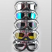 Wholesale Good quality motorcycle goggle Motorcycle Scooter Steampunk Cruiser Helmet Goggle Eyewear