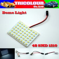 Wholesale DHL FREE Festoon T10 Dome Panel Light SMD LED Car Interior Roof Reading light V LL06