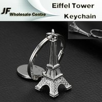 aluminum gifts for women - Newest Paris Eiffel Tower Keychains cm Height Key Chain Holder Silver Aluminum Metal Creative Model Keyring For Christmas Gift